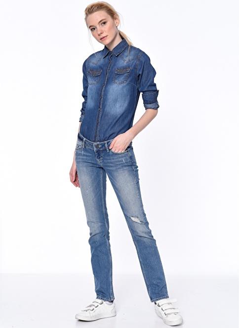 Mustang Jean Pantolon | Gina - Slim Renkli